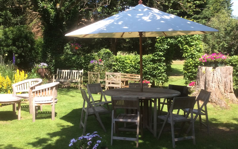 The Crown Inn's beautiful garden in Little Missenden